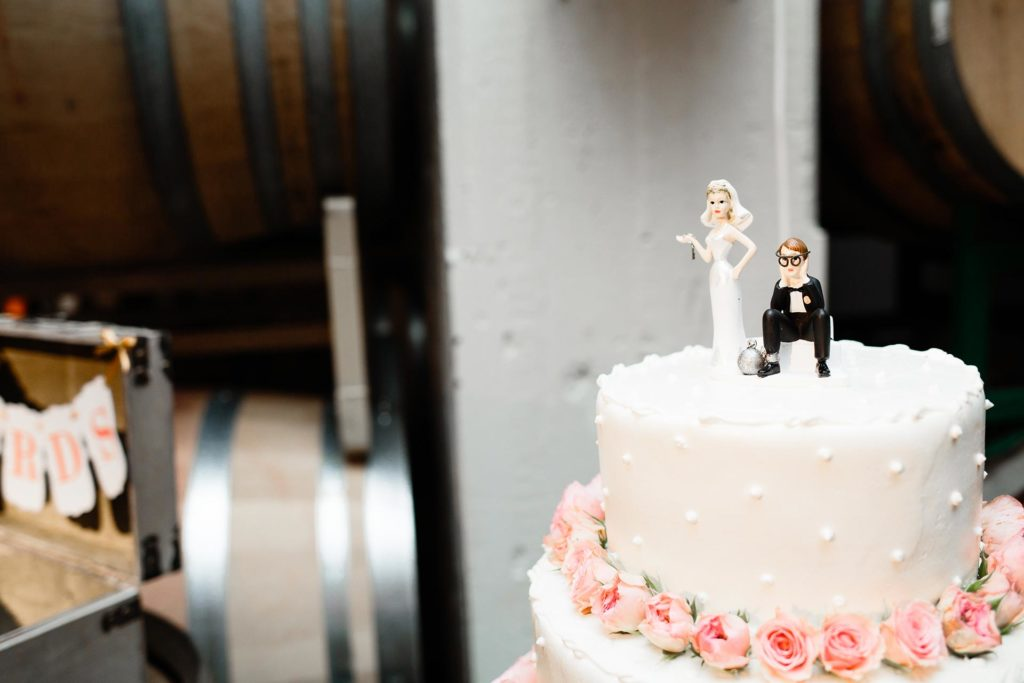 Cute wedding topper