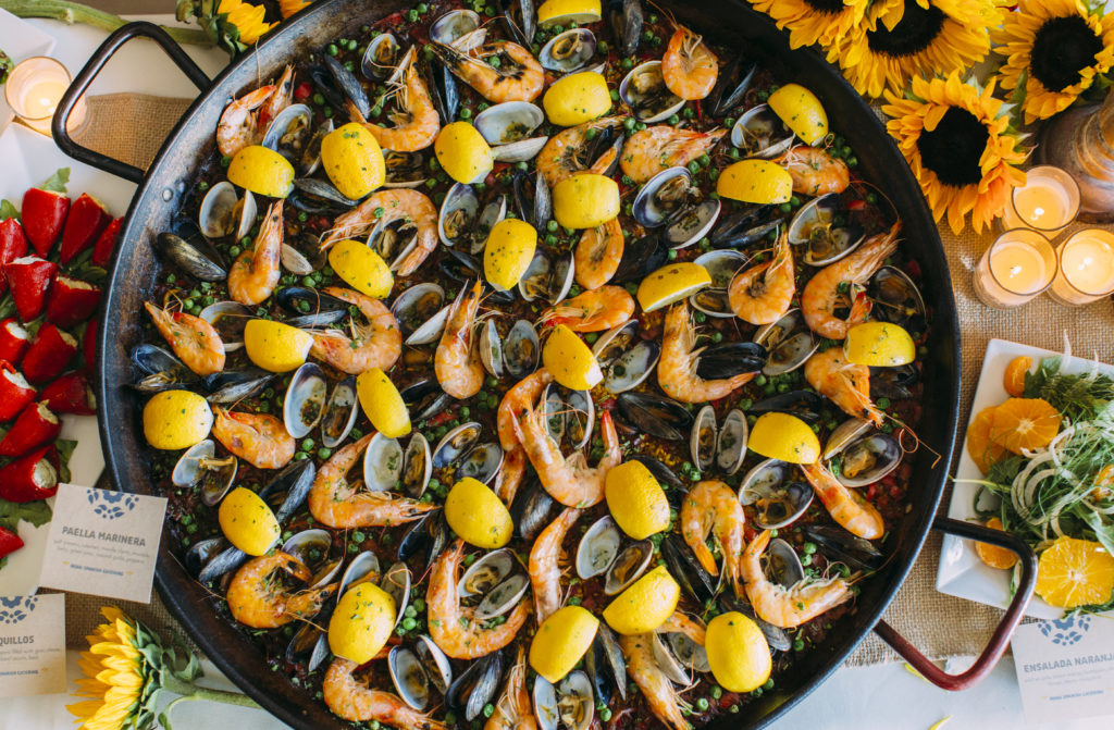 Colorful paella marinara
