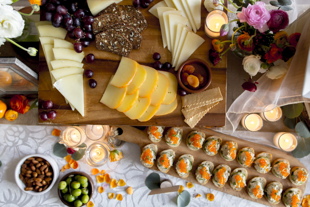 Fresh fruit and cheese platter