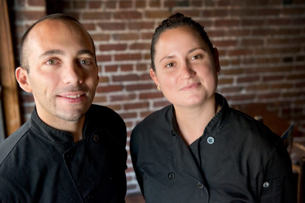 Chefs Sergio Monleon and Emily Sarlatte
