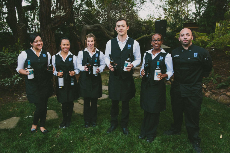 Full service catering team